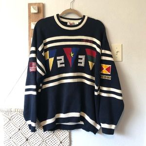 Vintage Cotton Traders Sailing Nautical Sweater